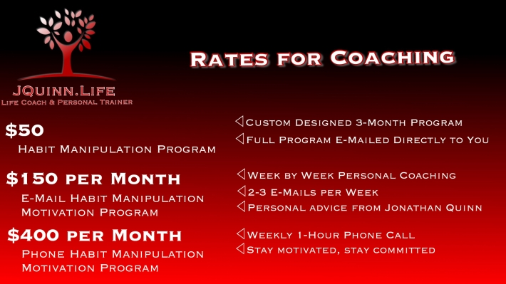 JQuinn.Life Coaching Rates