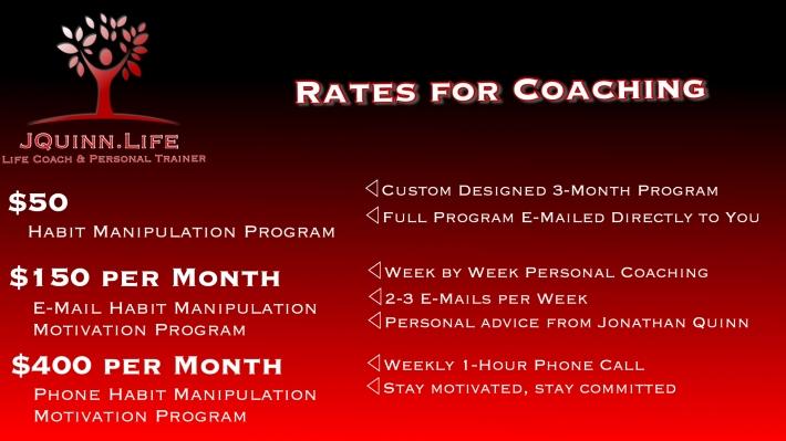 JQuinn.Life Coaching Rates